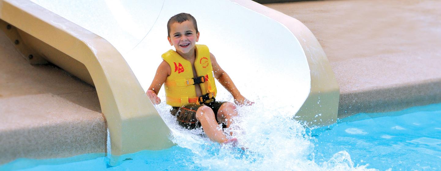 School Class Trips Outdoor Pool Slide